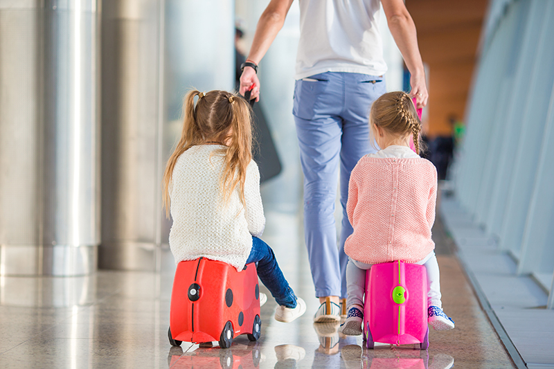 Keep the kids 'wheely' entertained from the second they step into the airport with a ride-able, pull-along suitcase!