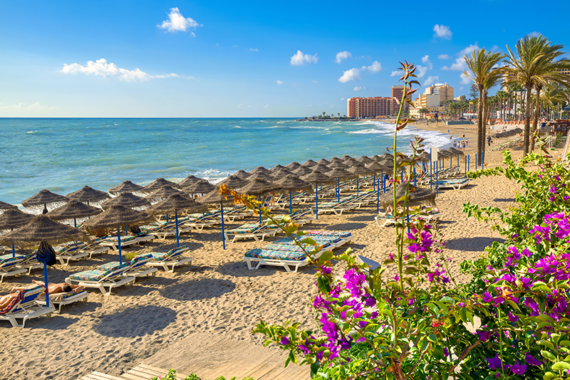 There are so many beaches to choose from on the Costa del Sol, so you will find a secluded spot for you to bask in the midday sun and enjoy some quality time together.