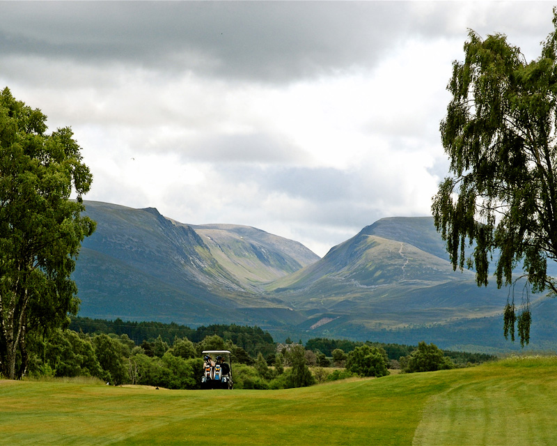 Spey valley in Scotland provides geart greens with great views.