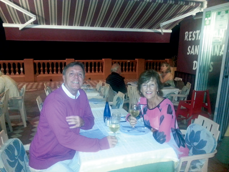 Donna and Ashley Merrick enjoying a meal out on one of their many RCI holidays over the years. The family have got the most out of their RCI membership, by knowing the system inside out so they get the very best deals.