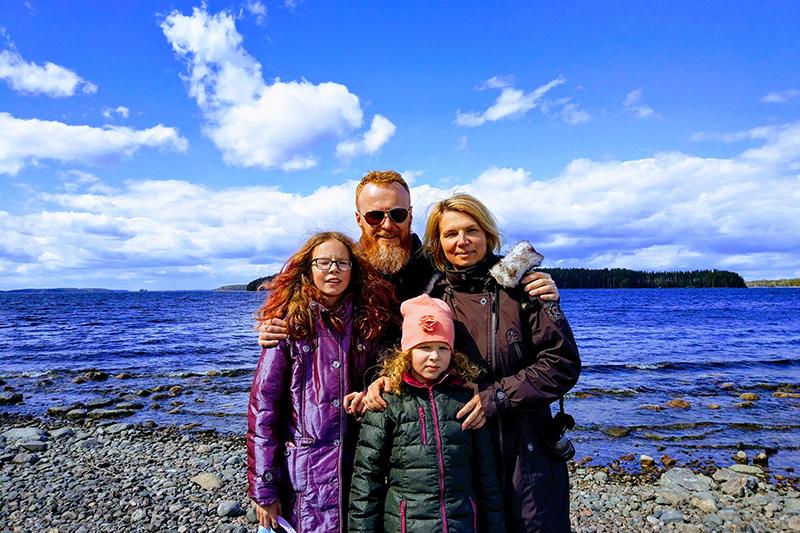 Anna, Ilya and their children enjoying Finland