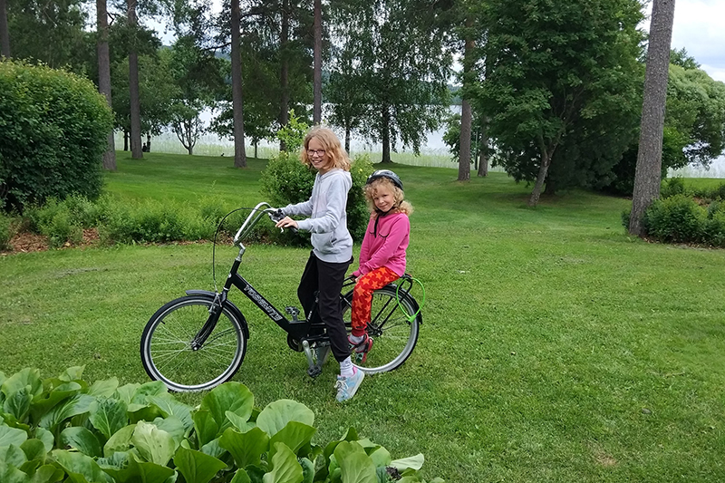 The girls enjoy spending their holidays outdoors and Finland fits the bill for them. Cycling is just one of many outdoor activities that can be accessed either on resort, or close by in some of the country's beautiful forests and around its lakes.