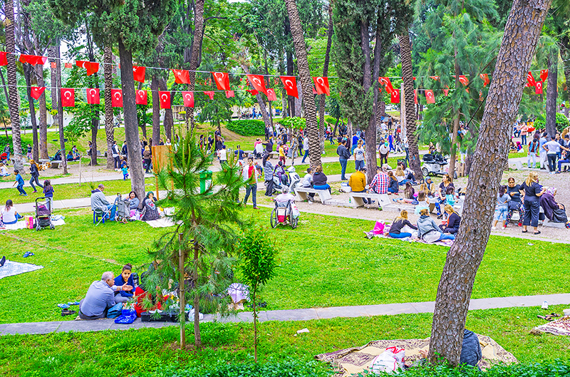 Karaalioglu Park, an urban park scattered with sculptures and water features, makes for a great place for an evening stroll, or a picnic in the sunshine.