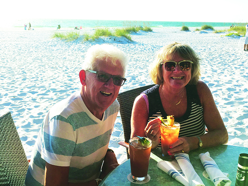 Margaret and Michael Barnes love getting back to 'Old Florida' and away from the crowds. They spend time at the Walt Disney World parks with their older grandchildren, before rounding off their holiday with a week on the coast.