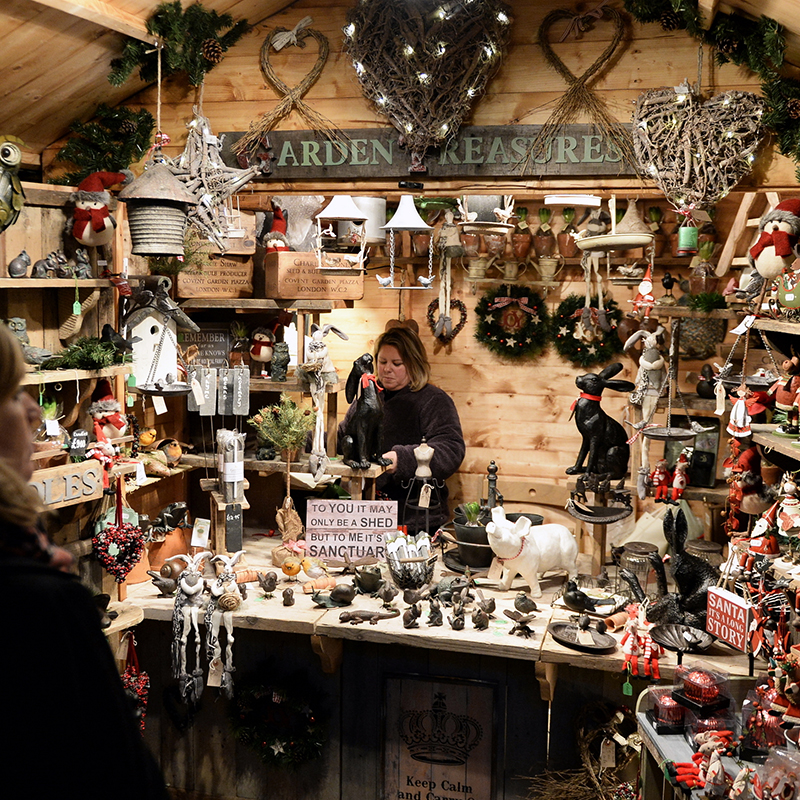 Toys, Christmas decorations, handcrafted jewellery candles, artwork and personalised gifts, and an array of food and drink options are all available at Bath's Christmas market.