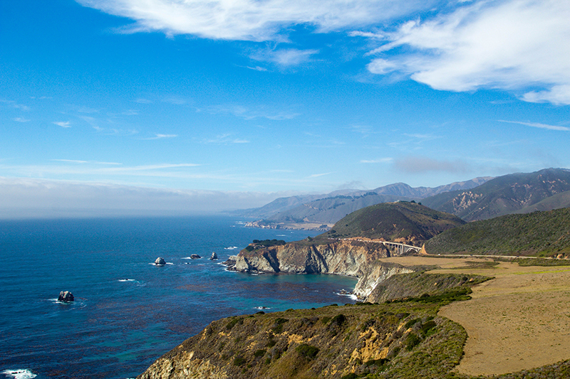 The Big Sur is one of the most picturesque sections of the California coastal driving route.