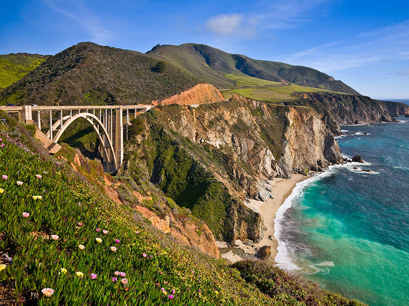 There's no doubt the Big Sur is one of the most beautiful stretches of coast, so it is worth making regular stops along the highway and making the most of the view. Bixby Creek Bridge is one of the most photographed bridges in California, so is a great place to stop and check out what all the fuss is about.