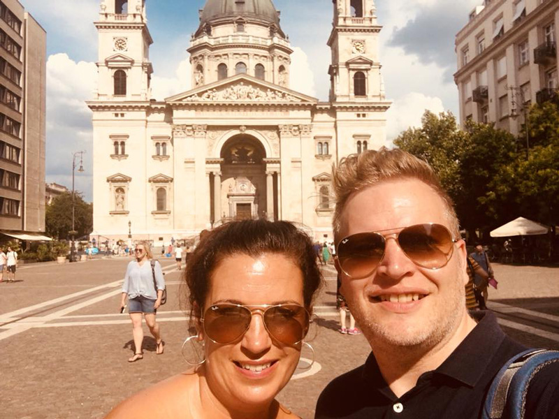 Kara and Kane made the most of their trip to Budapest by taking in all the magnificent architecture that the city has to offer.
