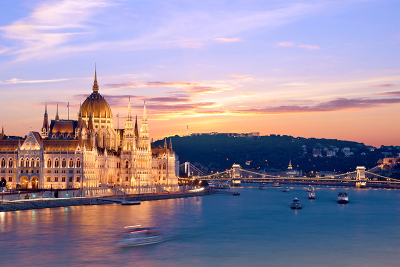 To really get a gret view, take a walk along the River Danube. You'll pass lots of restaurants and bars where you can stop off and have a drink, while taking in the view of the beautiful Houses of Parliament.