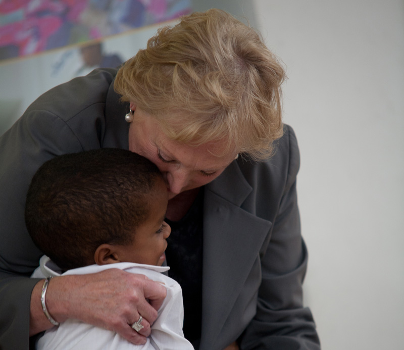 Christel DeHaan is the caring 'mother' of a global family of children of whom she can rightoy be, very proud.