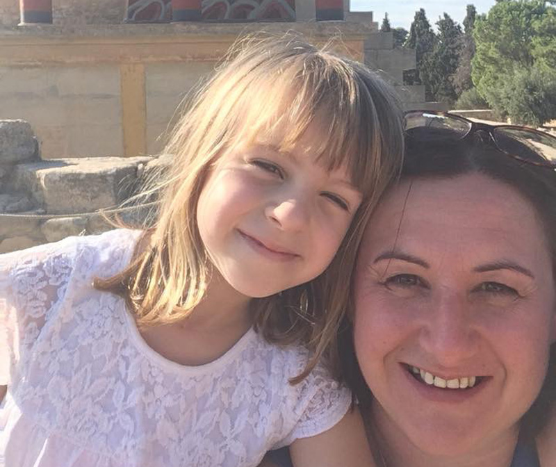Deryn and daughter, Eve, learned much about the history of Crete during their stay at The Grand Leoniki (7456) on one of the largest of the Greek islands.