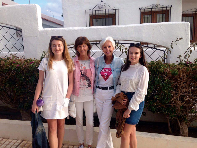 The Merrick ladies enjoying one of their many visits to Tenerife. They love going back to their home resort in between all the long-haul and touring holidays.