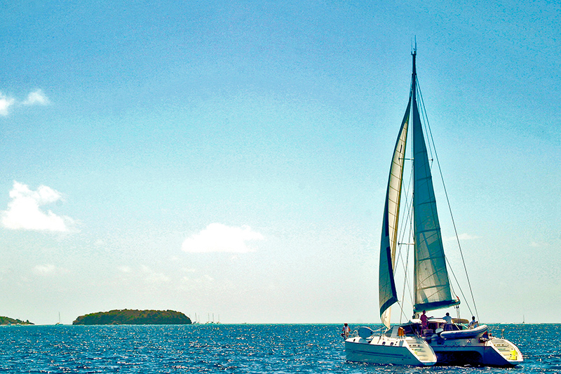Cruising around the Grenadines - what a fabulous way to experience the Caribbean.