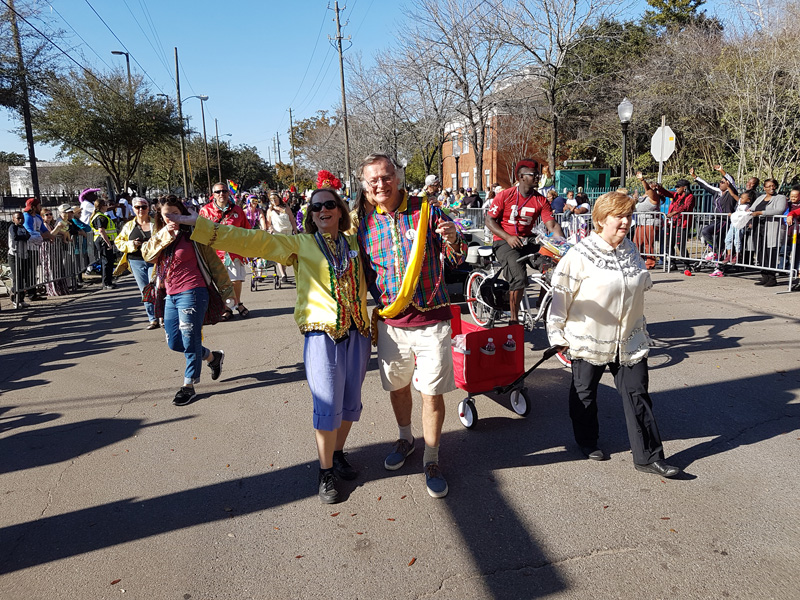 Joe Cain helped revive Mobile's Mardi Gras and is a legend in the town, so every year, locals and visitors join in with the 'People's Parade' to honour him.