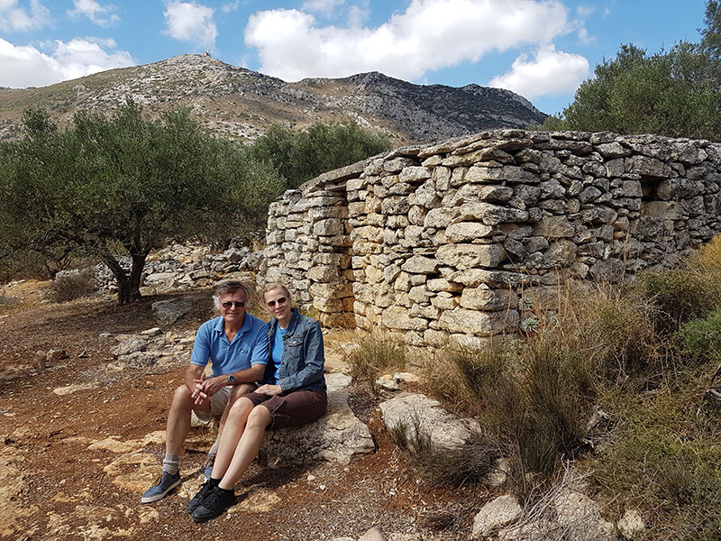 Donna and Mike like to get out and explore whenever they holiday in Crete. They visited some of the diverse historical sites, wineries and pretty villages on their travels.