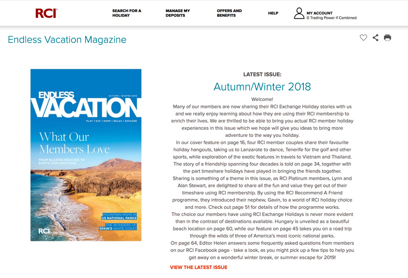 For even more destination inspiration, you can read our online version of Endless Vacation magazine, as well as browse back through the previous three issues.