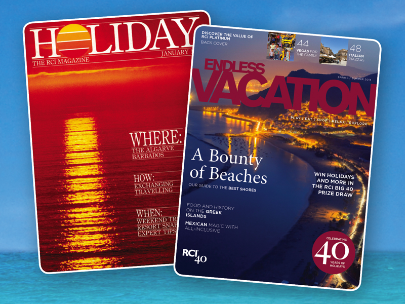 RCI has published a magazine for its members since 1986. Free of charge, and designed to complement the many other holiday planning tools it gives it members to ensure they are getting the most from membership, it is now published in 15 languages.
