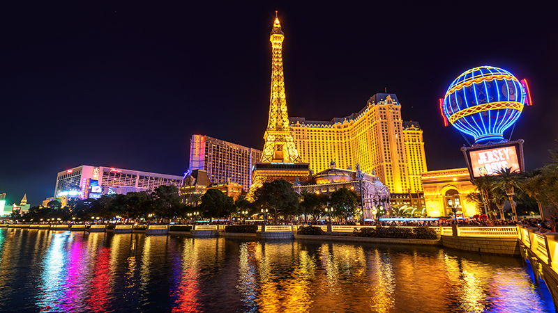 Tour the strip to see everything from the Eiffel Tower at Paris casino to the Statue of Liberty at New York, New York all in one place.
