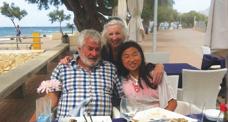 Maria with her husband, Robin, and daughter Isabella, on a timeshare holiday together in Madeira - a favourite destination for them. Maria finds the flexibility on flight bookings, combined with the great-value prices of the RCI Extra Holidays helps her to save money on the family's airfares.