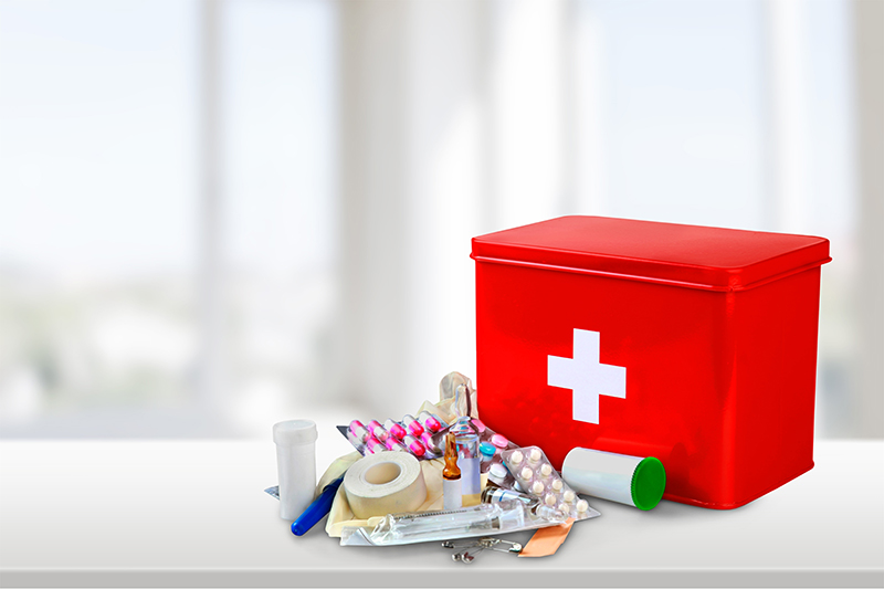 Pack a first aid kit with essentials