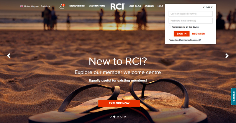 The Welcome page is essential for new members to get started in getting the most out of their timeshare with RCI membership. Existing members will also find it serves as a reminder of the many holiday lifestyle benefits, discounts and deals they can access and give them access to all the essential guidance and information they ned to enjoy it all from this one page.