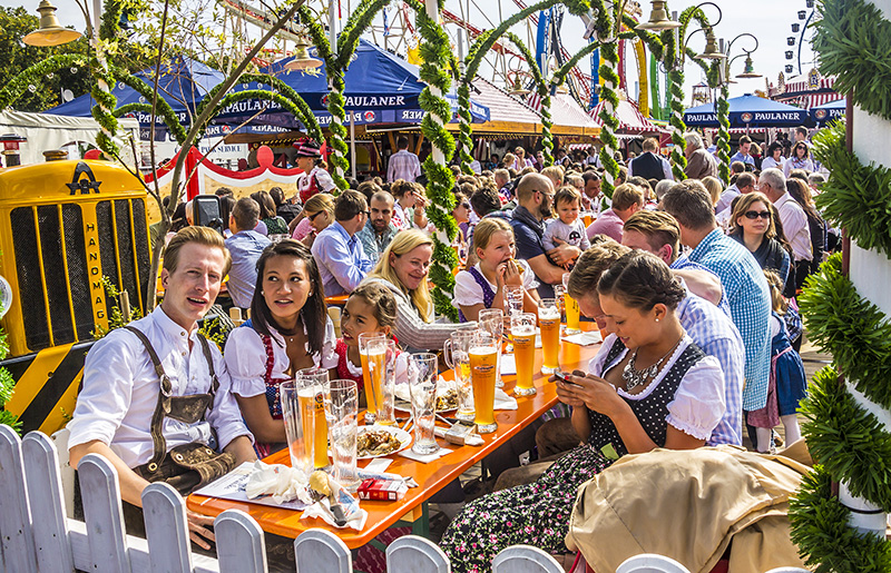 Munich's Oktoberfest is an internationally renowned event, famous for celebrating all things Bavarian. The original festival was held in 1810 to celebrate the wedding of Crown Prince Ludwig of Bavaria and Princess Therese of SaxonyHildburghausen and is still going strong today.