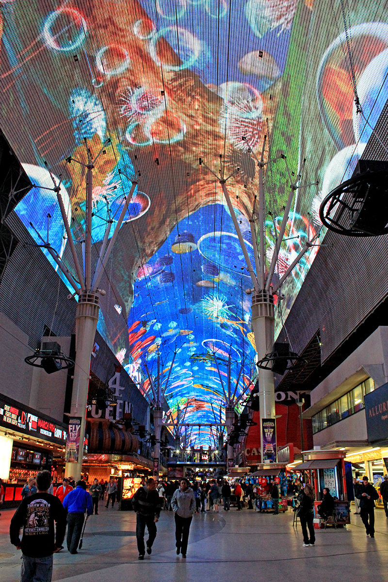 Fremont Street is a light and music experience that is very impressive - dance along to the music as you mooch around the shops.