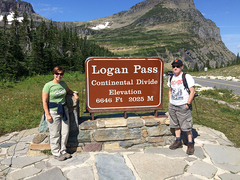 If you're there for the mountains, Glacier National Park has some huge ones. Logan Pass - at over 2,000 metres tall - is the park's highest point. Make sure you get a photo to prove you were there.