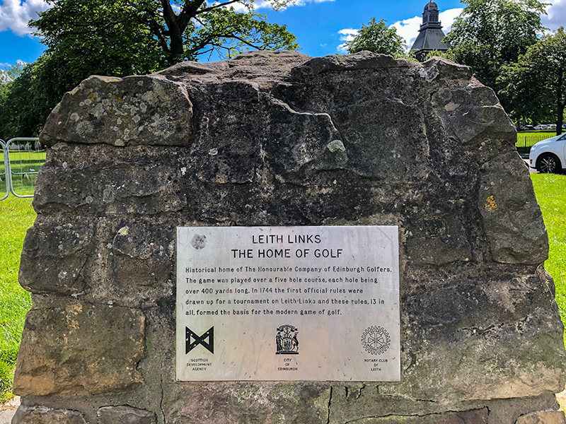The original 13 rules of golf were officially recorded at Leith Links. For those interested in the history of the sport, you can visit the commemorative cairn and plaque at the park.