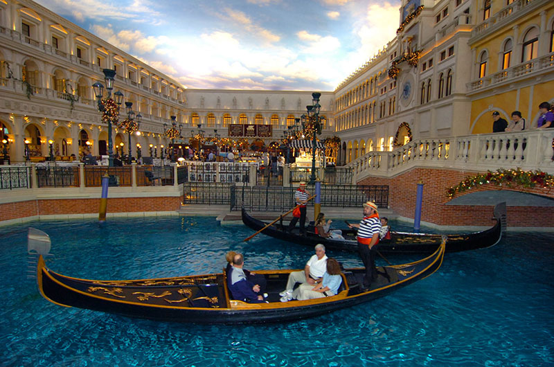 Visiting Las Vegas is like holidaying in countries all over the world thanks to hotels such as The Venetian and New York New York.