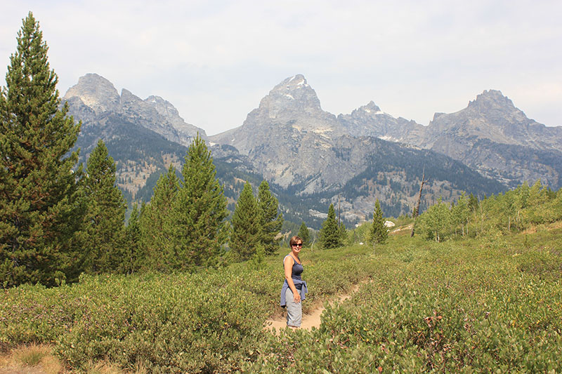 The jagged peaks of the Teton Range soar thousands of feet above Jackson Hole valley in western Wyoming, and are a truly jaw-dropping sight.