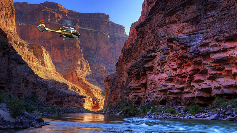 A helicopter flight out over - and through - the Grand Canyon may be expensive, but it is a once-in-a-lifetime experience that will make a memory that will stay with you forever.