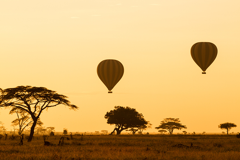 A hot air balloon trip over the African plains will let you see this amazing country from a new perspective and you'll get some of the best videos and photos you're ever likely to take.