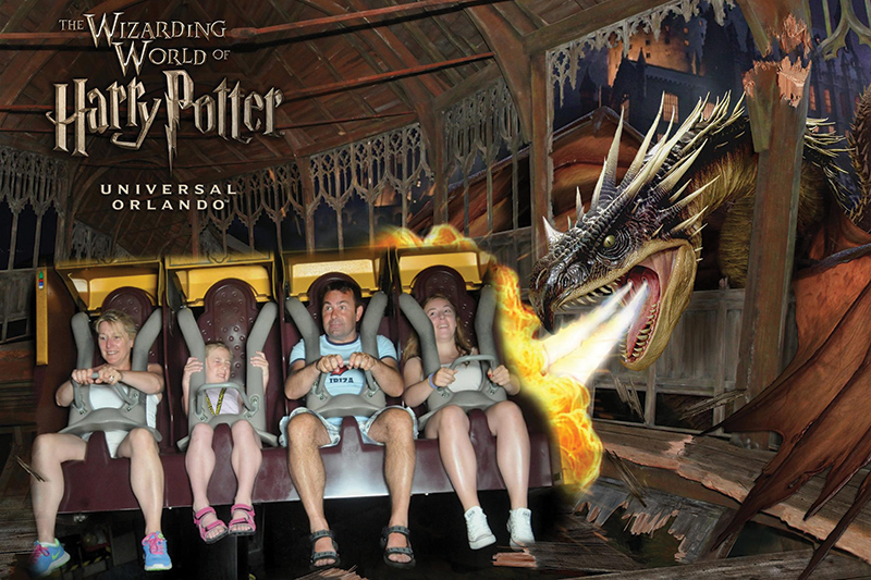 The Stewarts at the Wizarding World of Harry Potter at Universal Studios in Orlando.