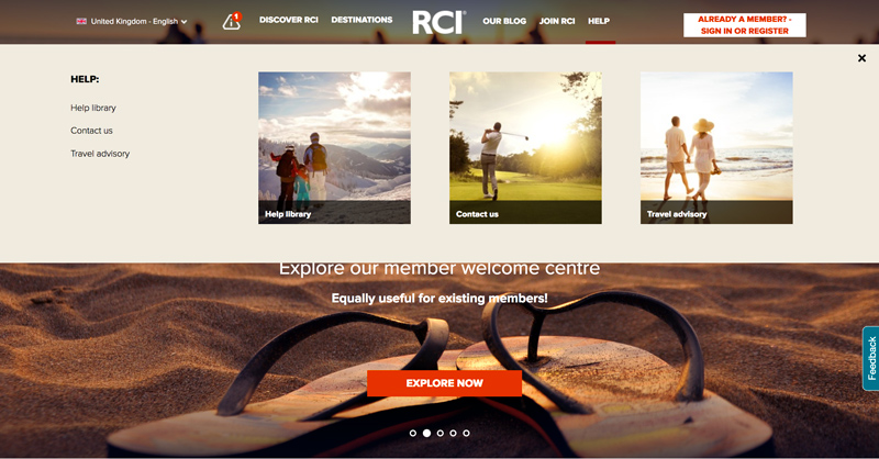 RCI.com also features a comprehensive Help Library to support members. This section of the site includes numerous 'how to' step-by-step guides, educational features and videos.