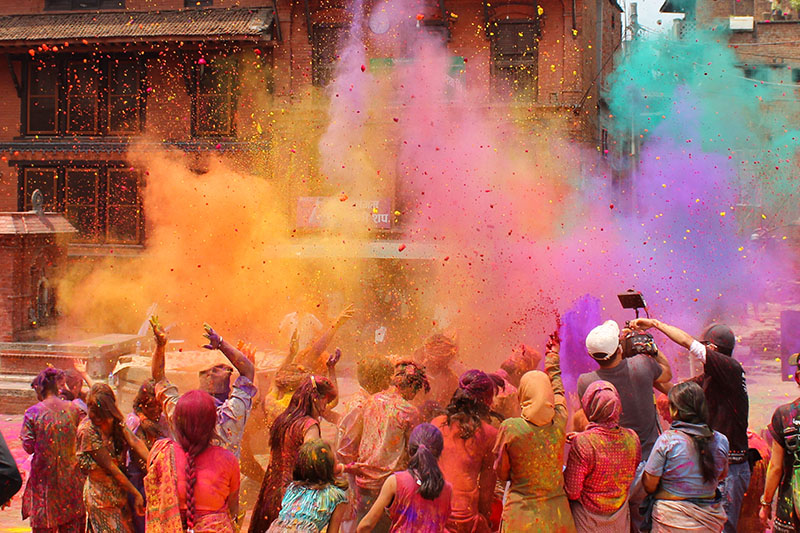 The Festival of Colours in India is a joyous event whcih has gone beyond a religious event to being a major draw for tourists.