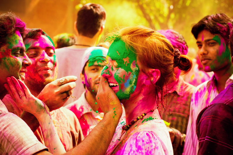The Festival of Colours, or Holi Festival, brings out more colour than ever on India's streets. It is a happy and joyous time in which locals and visitors join together.