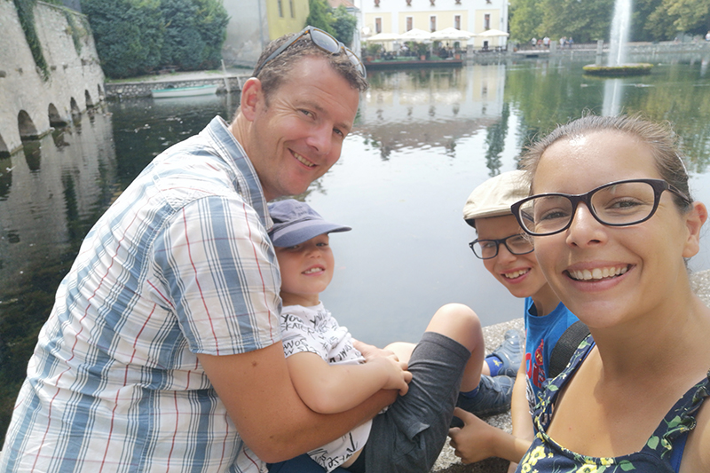 Gemma, with husband Tom and  their two sons, Dylan and Ryan, set off on a great driving adventure, taking them through four countries! Gemma says the whole family agree that this was the best holiday they have had to  date.