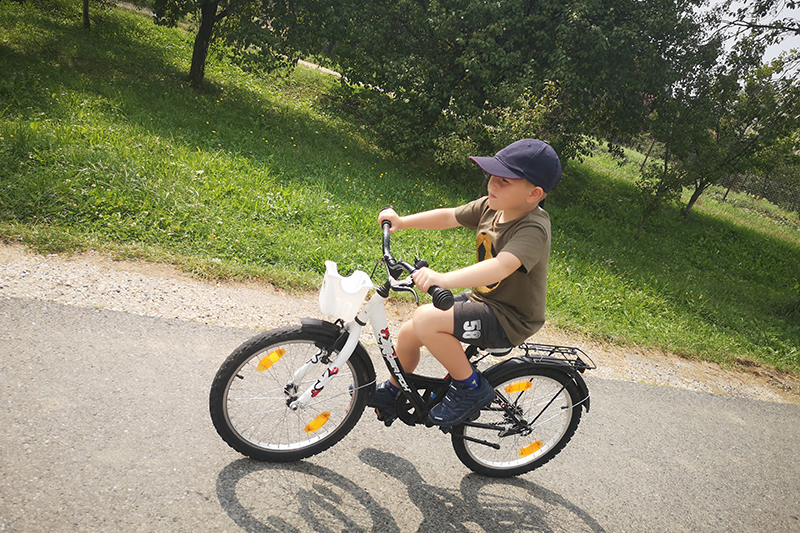 The Gregory family love the outdoors and cycling is one of their favourite holiday activities. The roads between Hungary and Slovenia were very safe and the boys were thrilled to be able to tell their friends they had cycled into another country.