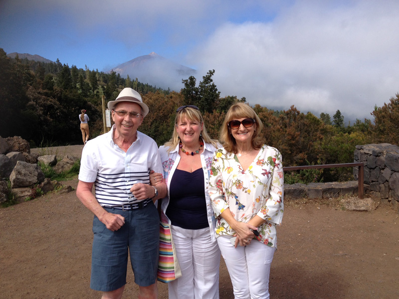 One of my favourite memories from our first holiday with my Dad was going up to the very summit of Mount Teide on Tenerife. Here we are taking a refreshment stop on our ascent. It's good to let older people get out to walk about at intervals on long car journeys, as their ciculation doesn't work as well as it once used to.