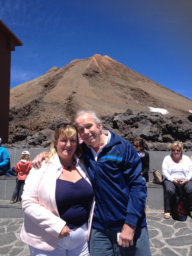 Once we got to Tenerife, I did a slightly irresponsible thing... I ignored the warnings about the dangers of high altitude for tjhose with heart condistion at the cable car station on our last stage in our journey up Mount Teide. As Dad had wanted to do this on previous trips to Tenerife, but Mum said 'no', I felt I had to let him do it. I knew it would invalidate his travel insurance however, so I made him slow down and take rests in the shaded areas when we got to the summit, plus I plied him with bottled water. He loved every minute of his montain adventure and I never told him it might have been a trip too far for his dodgy ticker!