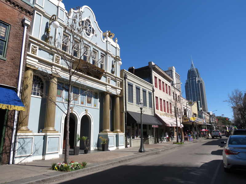Dauphin Street is filled with bars, restaurants and shops and is the 'hub' of the town and the place to be.