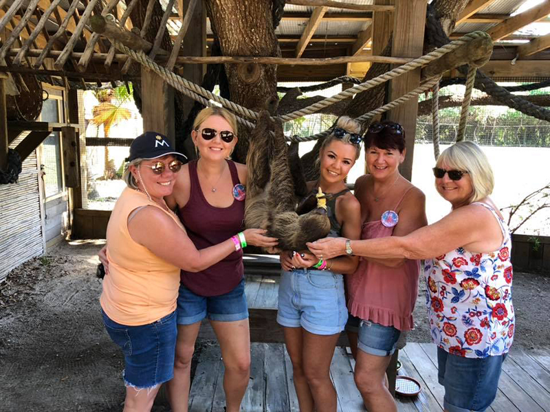 RCI member of 20 years, Janine Hemblade, pictured second from the right, not only enjoys family time using her timeshare, but also treats her friends to some shared time together in the sun. Janine is seen here on a girls' holiday in Florida hotspot, Orlando, in the US.