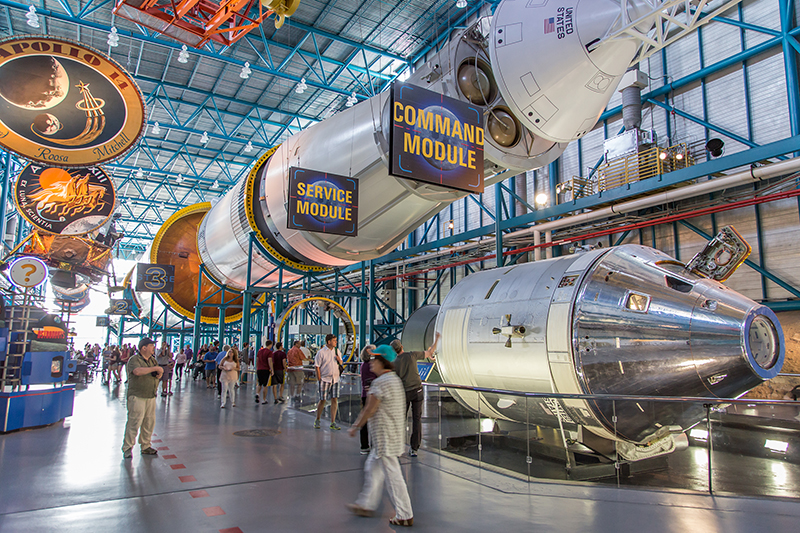 Enjoy a day out to the Kennedy Space Center. You can jump into one of the flight simulators and pretend to be an astronaut for the day!
