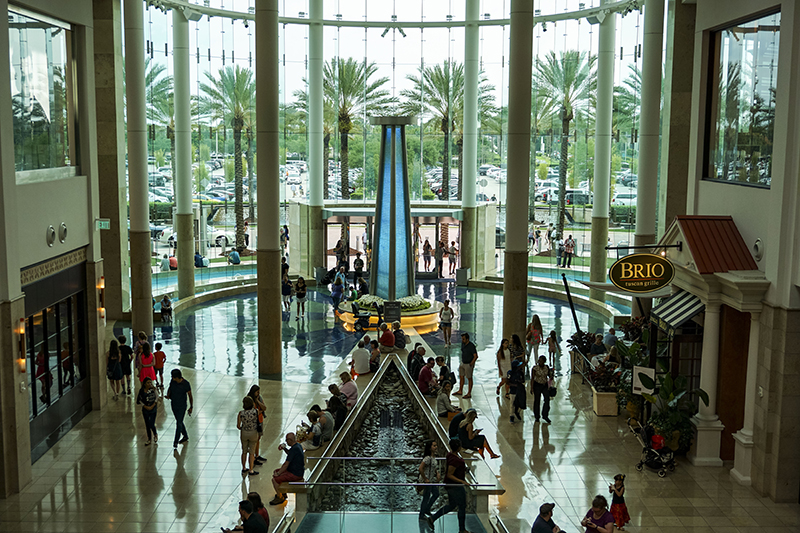 When in Orlando, the O'Connors love to make the most of the fabulous and varied shopping opportunities. Their favourite is The Mall at Millenia which has hundreds of stores, from high street to designer brands.