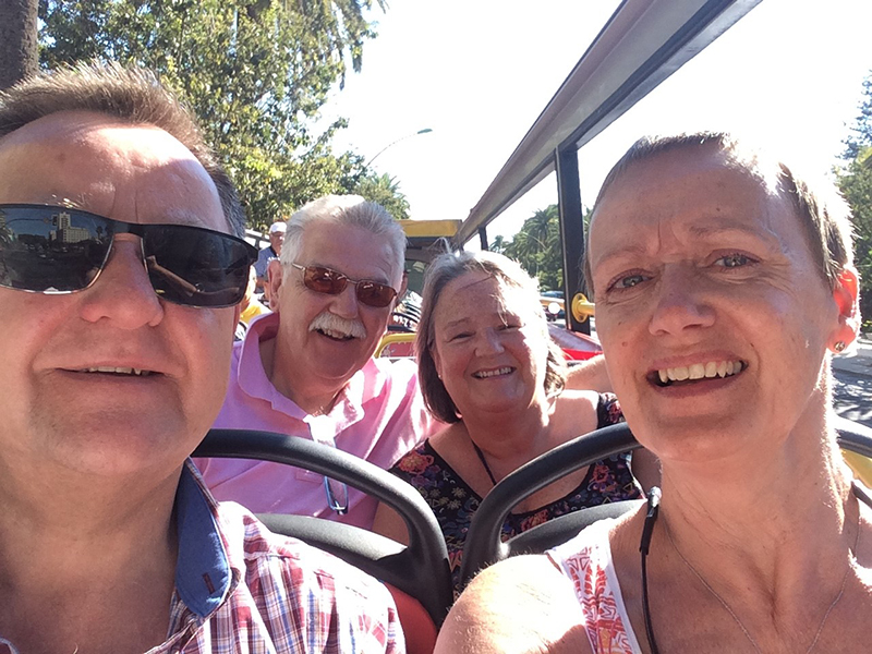 Holidays are now bringing 'forever friends', Susan, Brian, Kim and Martyn, closer together than ever as they are now planning to holiday together regularly, melting the years away.