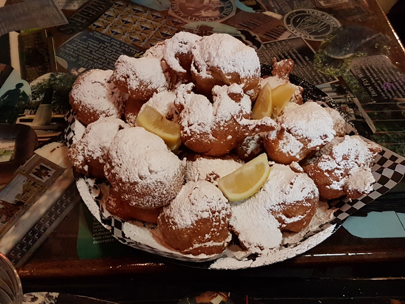 You can't come to Mobile without trying Pete's beignets drizzled with lemon - it will be a waste of a trip if you don't!