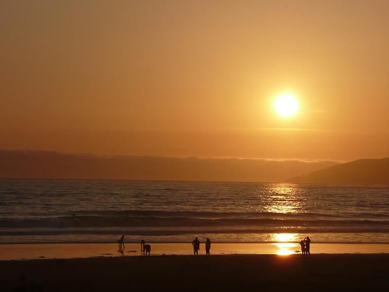 If you want to witness an impressive sunset, head to Pismo Beach and watch is awe as the sun disappears on the horizon. Stunning.