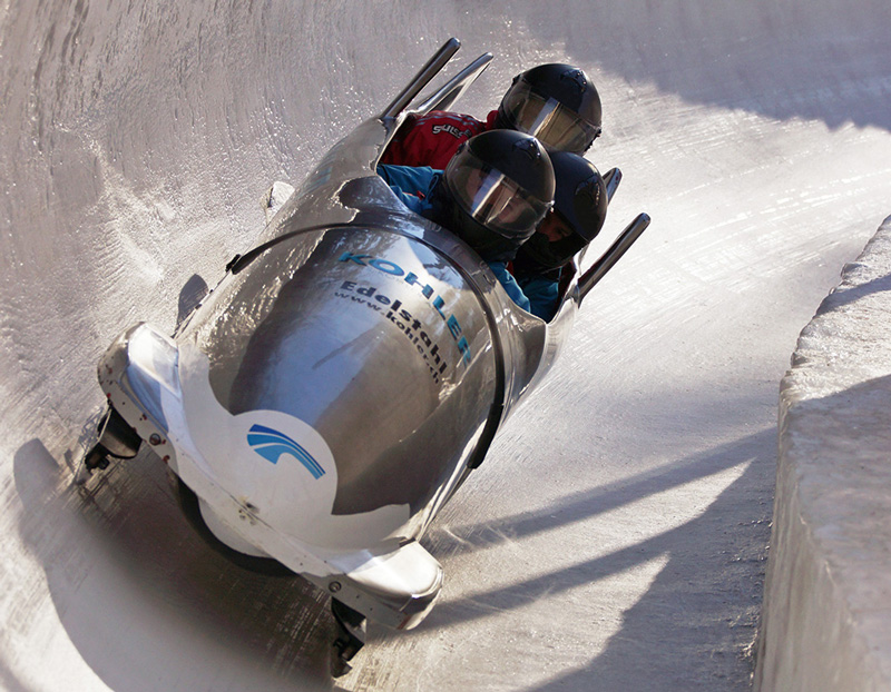 Bobsleigh - ride with the pros on tracks at Iglis, near Innsbruck in Austria; La Plagne in France; Lilehammer Olympic track, Norway; Sansicario, Italy and the world's oldest track of 125 years: St Moritz in Switzerland.