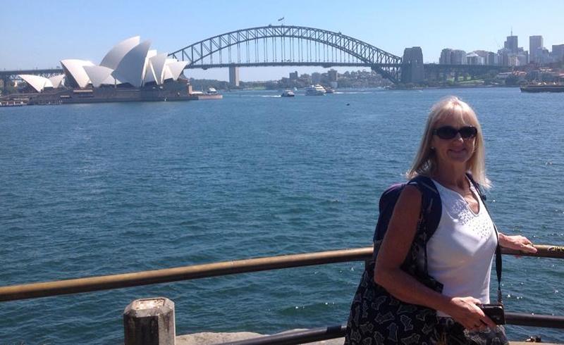 Pauline and Tom spending Pauline's birthday in Australia
